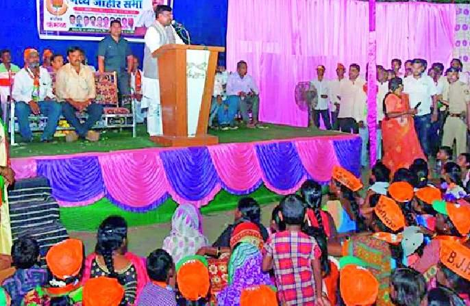 Maharashtra Election 2019 ; Support the chariot of development to move faster | Maharashtra Election 2019 ; विकासाचा रथ अधिक वेगाने पुढे नेण्यासाठी साथ द्या