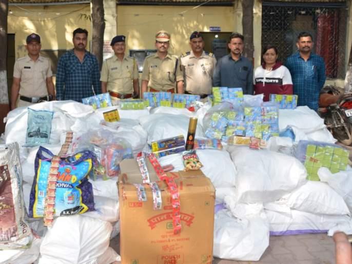 Tobacco products seized with a cluster of five lakhs | पाच लाखांच्या गुटख्यासह तंबाखूजन्य पदार्थ जप्त
