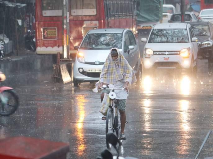 Rainy Break: The pace of farming, the cloudy atmosphere throughout the day, and sporadic show | पावसाची विश्रांती : शेतीकामांना वेग, दिवसभर ढगाळ वातावरण, तुरळक सरी
