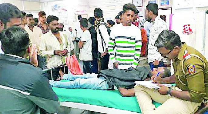 The young man was stabbed with a knife | तरुणाला चाकूने भोसकले