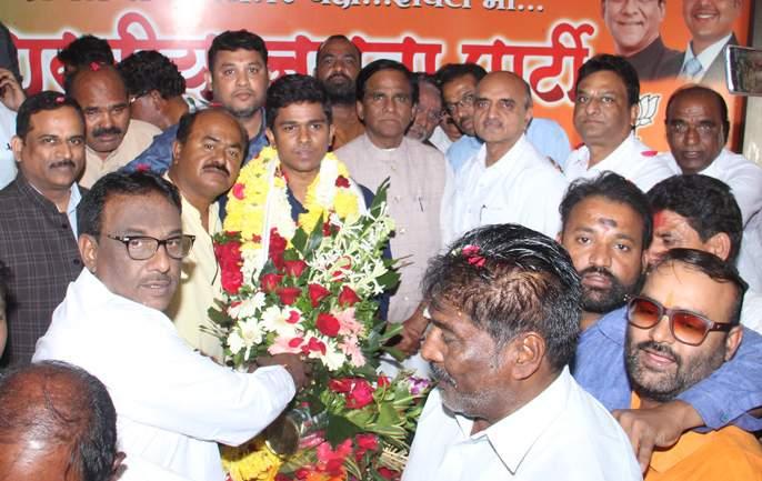 Santosh Danve as BJP's district president | भाजपच्या जिल्हाध्यक्षपदी संतोष दानवे