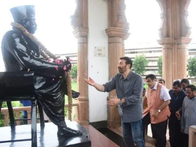 Sunny Deol visits Memorial Temple in Nagpur | सनी देओलने दिली नागपुरात स्मृती मंदिराला भेट