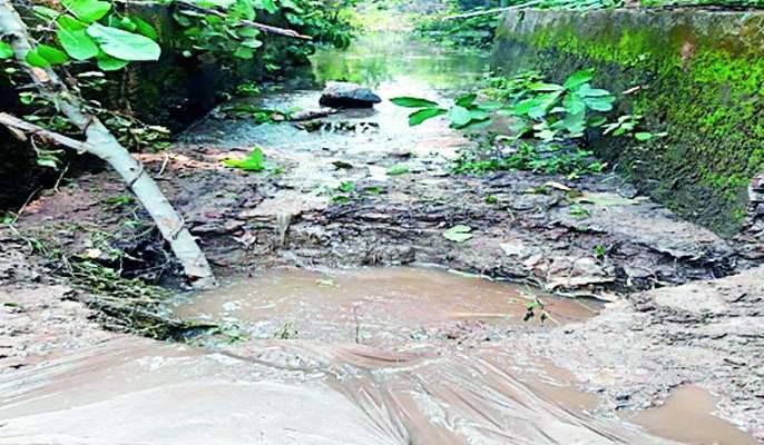 The main canal of Ravanwadi reservoir fled | रावणवाडी जलाशयाच्या मुख्य कालव्याला भगदाड