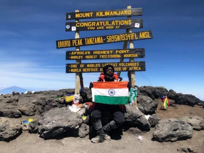 Bhanushan of Aurangabad performed Kyle Mt Kilimanjaro Sir | औरंगाबादच्या भूषणने केले माऊंट किलीमांजिरो सर