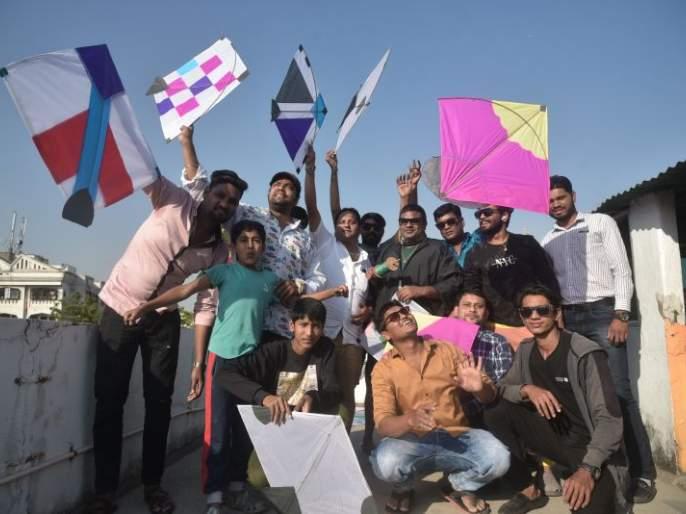 'O Kat' echoed the sky; Celebration of Kite Festival on Makar Sankranti | 'ओ काट'ने आसमंत निनादला;मकरसंक्रांतीला पतंगोत्सवाचा जल्लोष