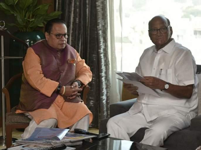 Vijay Darda meets Sharad Pawar | विजय दर्डा यांनी घेतली शरद पवारांची भेट