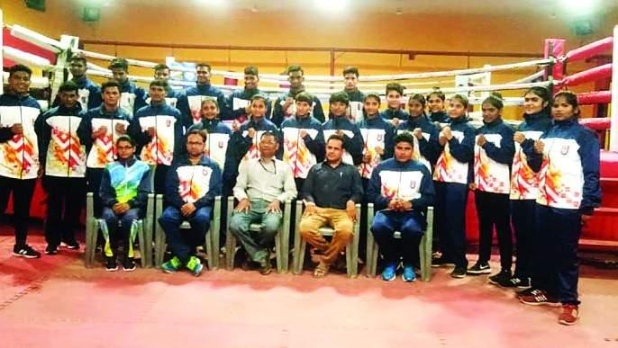 Maharashtra team leaves for Delhi for national school competition   राष्ट्रीय शालेय स्पर्धेकरिता महाराष्ट्र संघ दिल्लीला रवाना