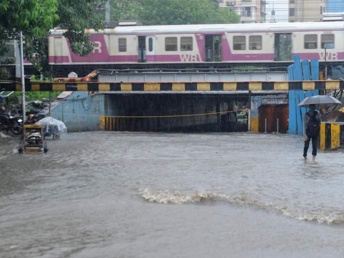 Mumbai's Tumbai by the downpour   कोसळधारेने मुंबईची तुंबई