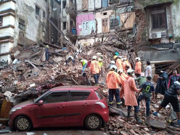 The Bhanushali building collapsed at the fort   Mumbai Building Collapse: फोर्ट येथे भानुशाली इमारत कोसळली
