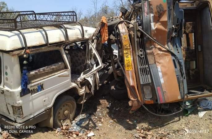 Accident in Gadchiroli district; Three killed | गडचिरोली जिल्ह्यात अपघात; तीन ठार