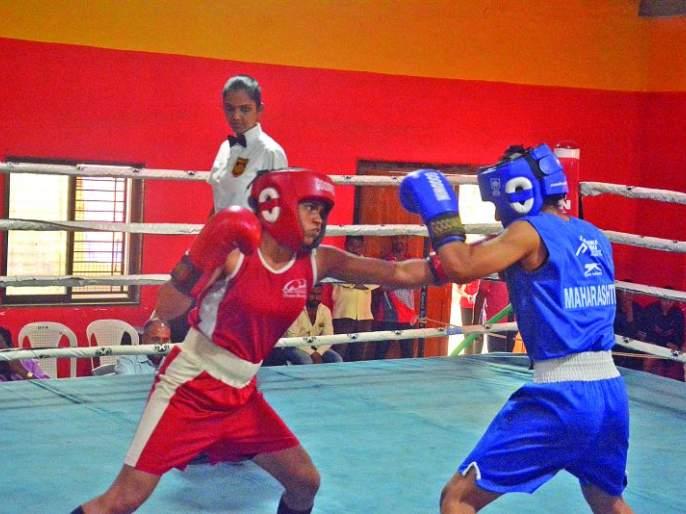 State Level Boxing Tournament: Akola's Four boxers enter the final | राज्यस्तरीय बॉक्सिंग स्पर्धा :अकोल्याच्या चार बॉक्सर अंतिम फेरीत दाखल