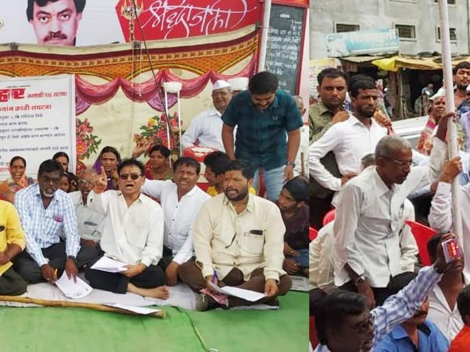 Diwana movement in front of Satana Municipality | सटाणा पालिकेसमोर दिव्यांगांचे आंदोलन