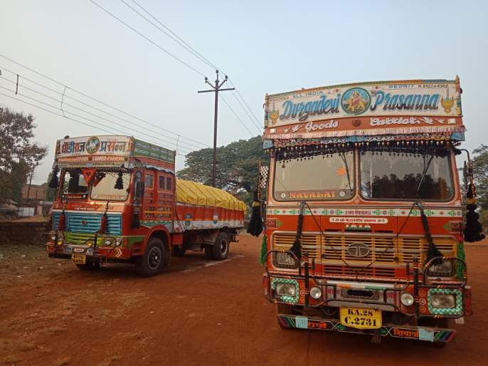 Three trucks transporting sandals seized | वाळूची चोरटी वाहतूक करणारे तीन ट्रक जप्त