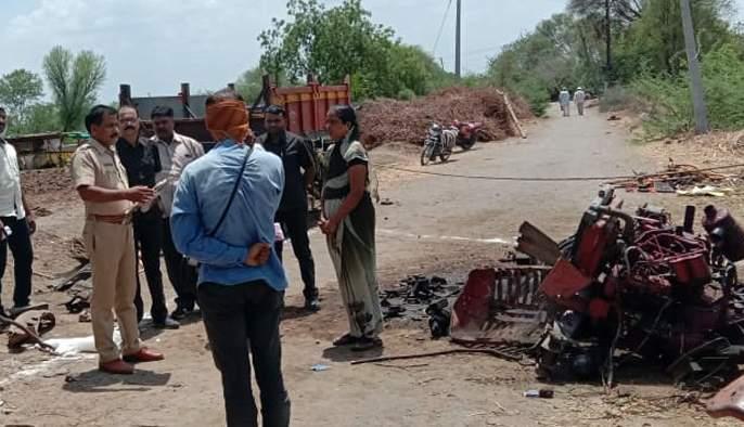 One killed in Blasting tractor explosion | ब्लास्टिंग ट्रॅक्टरच्या स्फोटात एक ठार