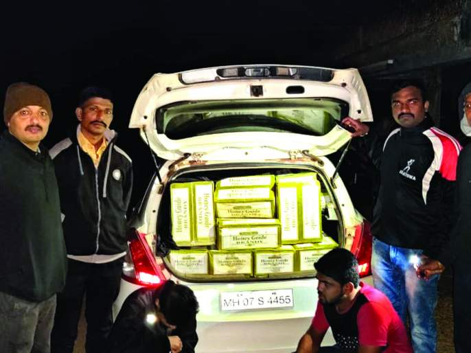 Pawedon caught millions of liquor, incident at Osargaon highway | पावणेदोन लाखांची दारू पकडली, महामार्गावरील ओसरगाव येथील घटना