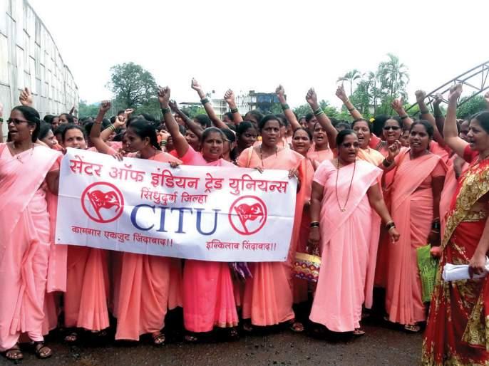Jail of Asha workers, highway blocked: 40 Asha workers arrested | आशा वर्कर्सचे जेलभरो, महामार्ग रोखला : ३५0 आशा वर्कर्सना ताब्यात घेतले