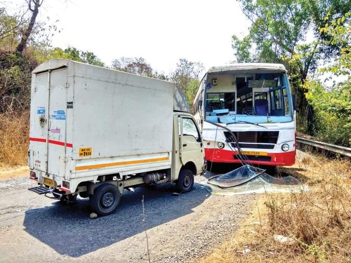 One injured in ST-Tempo accident, major damage to both vehicles | एसटी-टेम्पो अपघातात एक जखमी,दोन्ही वाहनांचे मोठे नुकसान