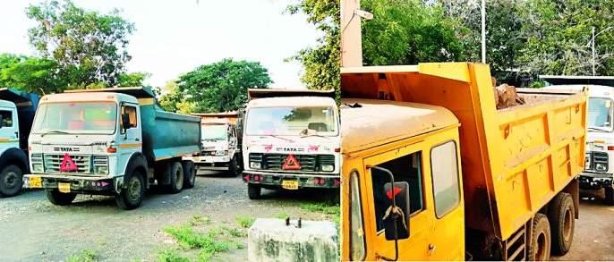 Ten vehicles seized in action | कारवाईचा धडाका दहा वाहने जप्त