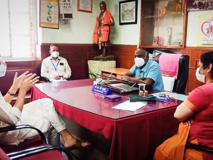 Corona warriors' work admirable in second wave too: Samarjit Ghatge: Visit to CPR | दुसऱ्या लाटेतही कोरोना योद्ध्यांचे कार्य कौतुकास्पद : समरजित घाटगे : सीपीआरला दिली भेट