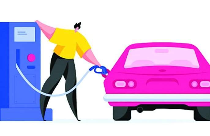 They fill the petrol by measuring the vegetables and cover the pulses! | भाजीपाला ताेलून मापून पेट्राेल भरतात डाेळे झाकून !