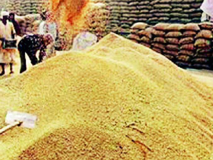 Paddy arrivals declined in the Market Committee | बाजार समितीत धानाची आवक घटली