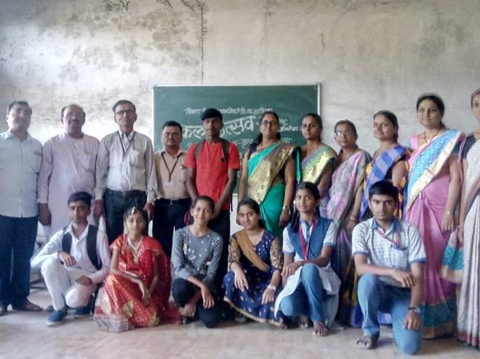 Pimpalgaon High School student first in Taluka level arts festival   तालुका स्तरीय कलाउत्सव स्पर्धेमध्ये पिंपळगाव हायस्कुलचा विद्यार्थी प्रथम
