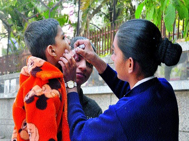 One and a half million children receive polio dose | दीड लाख बालकांना पाजला पोलिओ डोस