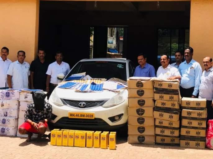State excise duty team raids in Shahpur: 4 lakh 3 thousand fake foreign liquor seized   राज्य उत्पादन शुल्कच्या भरारी पथकाचा शहापूरमध्ये छापा: चार लाख ८२ हजारांचे विदेशी मद्य जप्त