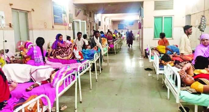 Washim: 'viral fever' outbreak; HOSPITALS Housefull   वाशिम :'व्हायरल फिव्हर'चा प्रकोप; रुग्णालये हाऊसफुल्ल!