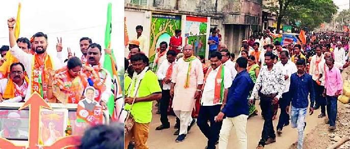 Maharashtra Election 2019 ; Demonstration of power of Sameer Deshmukh from rally in Deoli constituency | Maharashtra Election 2019 ; देवळी मतदारसंघात रॅलीतून समीर देशमुखांचे शक्तिप्रदर्शन