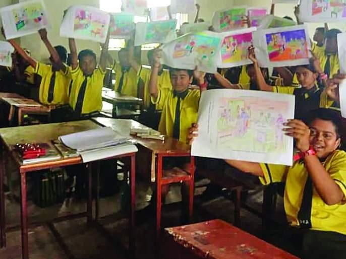 Voter Awareness Coloring Contest in schools! | शाळांमध्ये रंगली मतदार जागृती रंगभरण स्पर्धा!