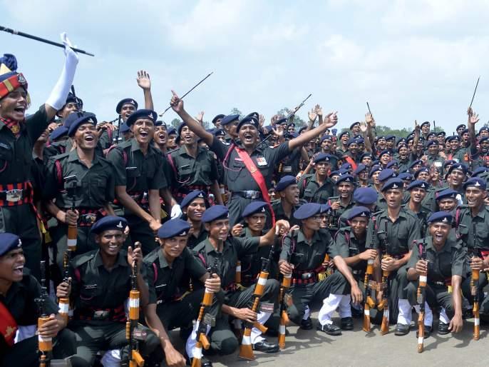 nashik,378,soldiers,shot,dead,in,service   ३७८ जवानांची तुकडी देशसेवेत दाखल