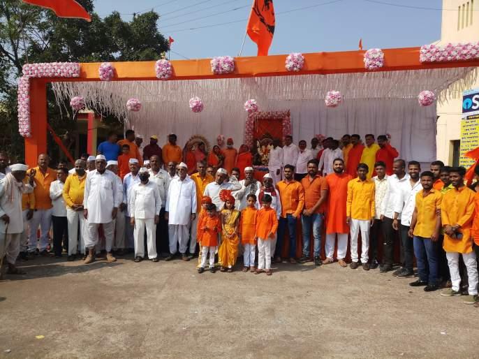Shiv Jayanti celebration in Vilholi | विल्होळीत शिवजयंती उत्सव साजरा