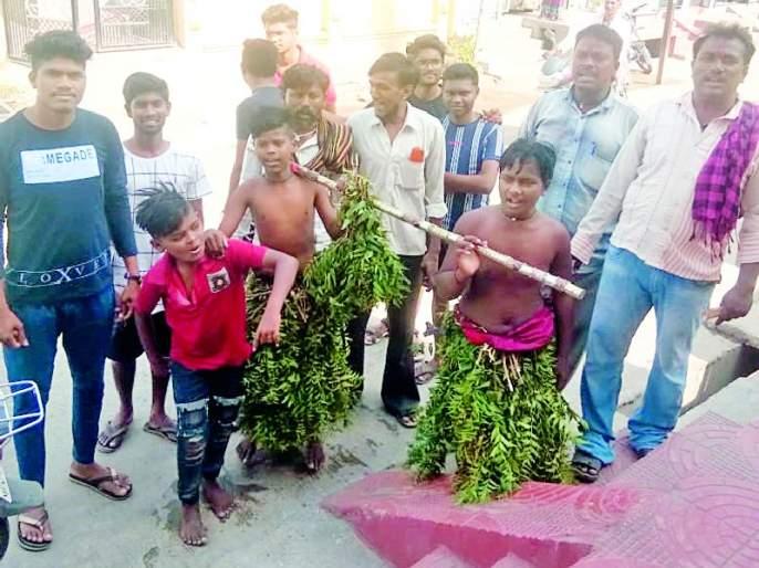 Water the bucket and stone; Paddy-konda piku give | धोंडी-धोंडी पाणी दे ; धान-कोंडा पिकू दे