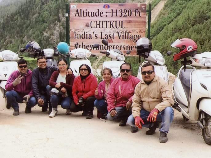 The 'Lahul Spiti Valley Campaign' gets off the scooter | स्कूटरवरून 'लाहूल स्पिती व्हॅली मोहीम' फत्ते