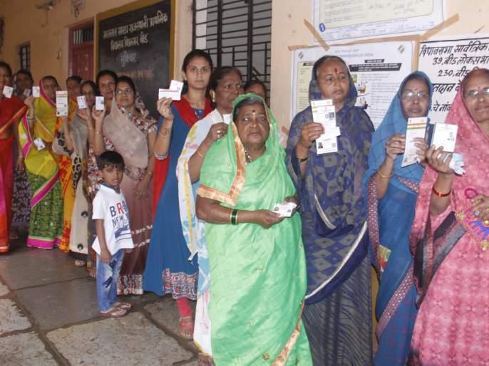 Beed district polls: 5.7 percent | बीड जिल्ह्यात ६८.१२ टक्के मतदान