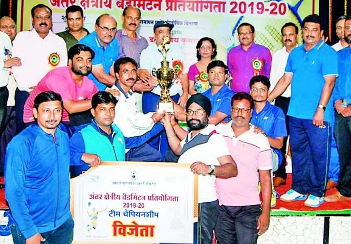 Pathakheda team wins championship in badminton   बॅडमिंटन स्पर्धेत पाथखेडा संघ विजेतेपदी