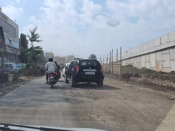 Vehicle owners suffer from temporary bandages on the highway | महामार्गावरील तात्पुरत्या मलमपट्टीने वाहनधारक त्रस्त