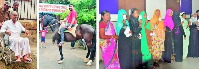 Maharashtra Election 2019 : On average, the district polls in the district for 66% | Maharashtra Election 2019 : विधानसभेसाठी जिल्ह्यात सरासरी ६६ टक्के मतदान
