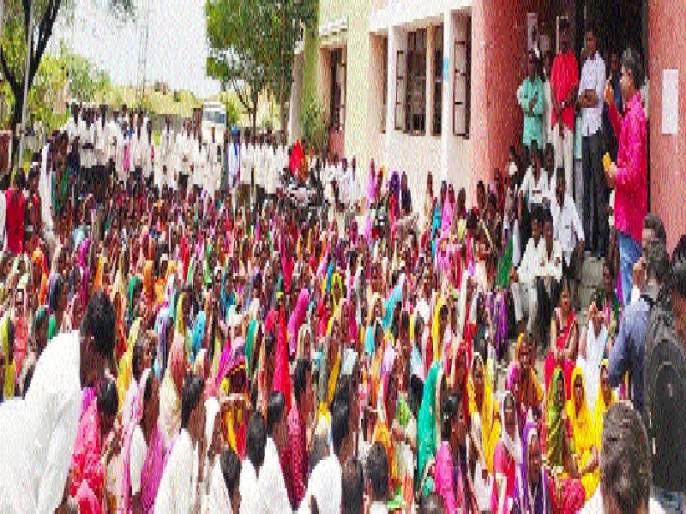Red Bawat movement in Mantha   मंठ्यात लाल बावटाचे आंदोलन