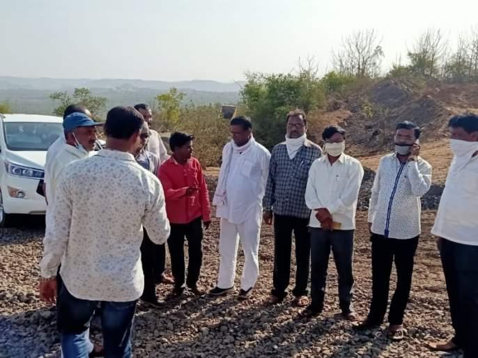 Inspection of road works in Savalghat   सावळघाटातील रस्ता कामाची पाहणी