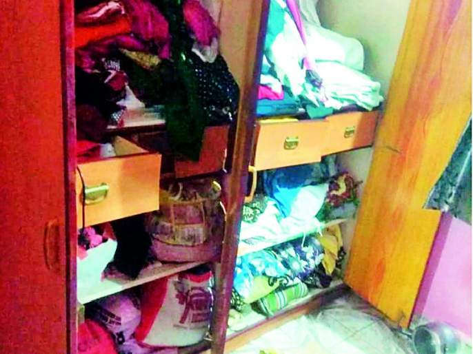 Day-long burglary in teacher colony | शिक्षक कॉलनीत भरदिवसा घरफोडी