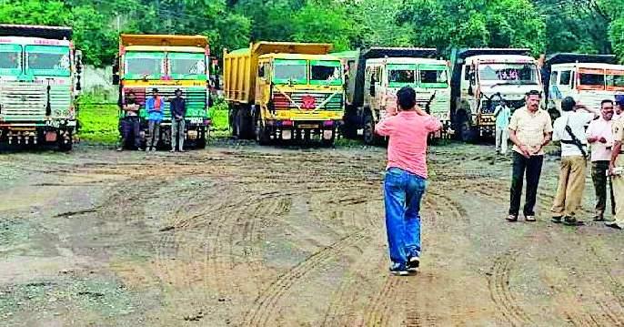 Seized 19 truckloads of sand transport seized | रेती वाहतुकीचे १९ ट्रक जप्त