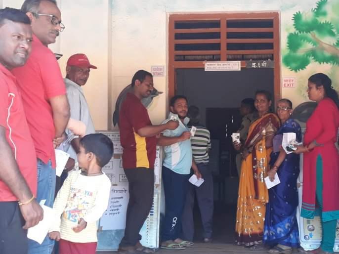 Back to the voting of women voters for Kankavali Lok Sabha elections | कणकवलीत लोकसभानिवडणुकीसाठी महिला मतदारांची मतदानाकडे पाठ