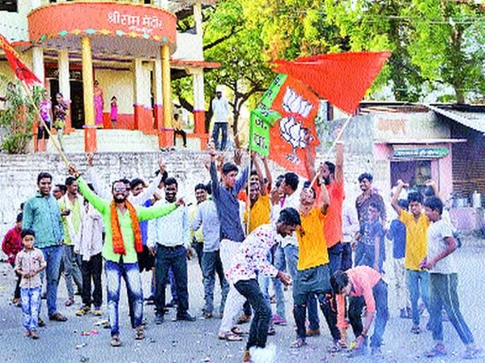 Shiv Sena-BJP mellagay dallying | शिवसेना-भाजपकडूनमालेगावी जल्लोष