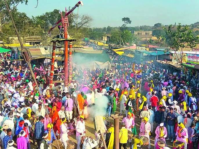 Meghnath yatra of Melghat in Tribal culture | आदिवासी संस्कृतीच्या मेळघाटात मेघनाथ यात्रेची धूम
