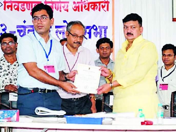 Bal Dhandarkar has 44 thousand 763 votes   बाळू धानोरकर यांना ४४ हजार ७६३ मताधिक्य