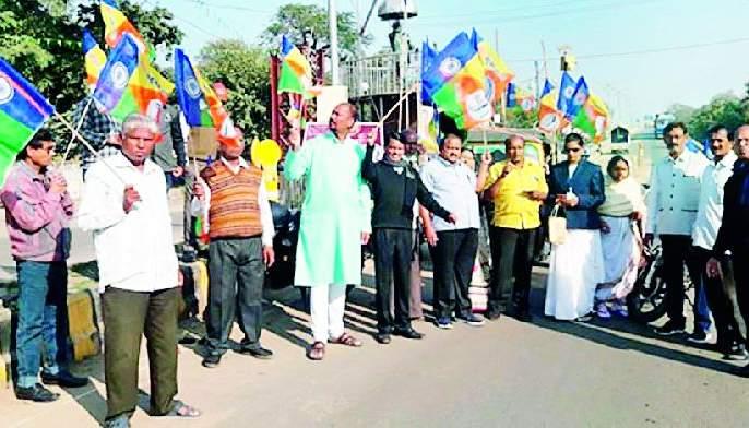 Rally in Gondia against CAA and NRC | सीएए व एनआरसी विरोधात गोंदिया येथे रॅली