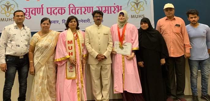 Nida Khan of Shellgaon is the first in the state | शेलगावची निदा खान राज्यात सर्वप्रथम