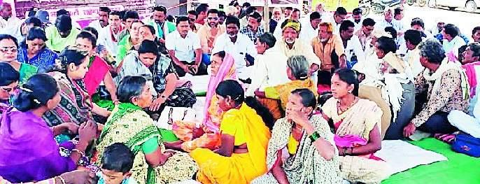 Taluka BJP's Dharna agitation | तालुका भाजपचे धरणे आंदोलन
